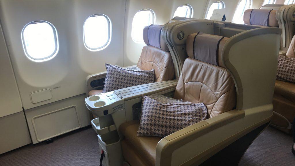 シンガポール航空 ビジネスクラス SQ942便 A330-300のシート