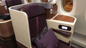 タイ国際航空 ビジネスクラス TG658便 A350-900